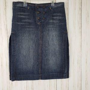 7FAM Denim Pencil Skirt